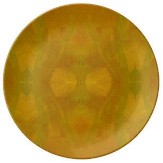 Dinnerware Plate in Yellow Spider