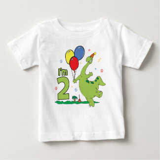 Dino 2nd Birthday Baby T-Shirt