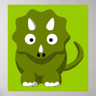 dino-306331 BABY GREEN DINOSAUR CARTOON  dino dino Posters
