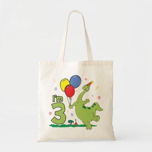 Dino 3rd Birthday Bag