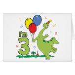 Dino 3rd Birthday Invitation Cards