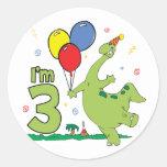 Dino 3rd Birthday Sticker