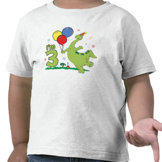 Dino 3rd Birthday Tee Shirts