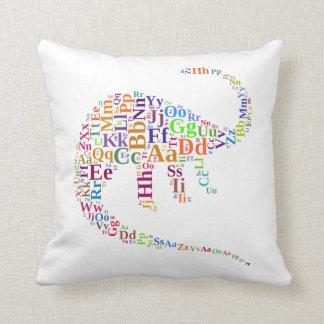 Dino alphabet cushion