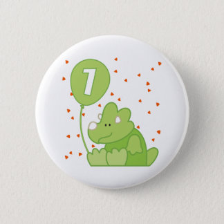 Dino Baby 1st Birthday 6 Cm Round Badge
