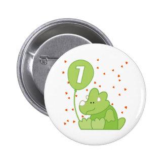 Dino Baby 1st Birthday 6 Cm Round Badge