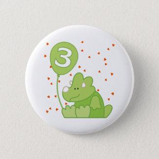 Dino Baby 3rd Birthday 6 Cm Round Badge