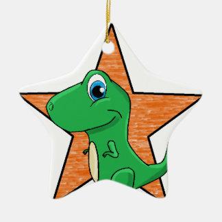 dino baby star christmas ornament