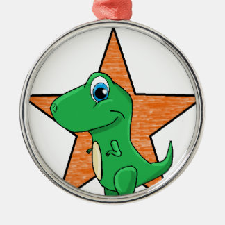 dino baby star Silver-Colored round decoration