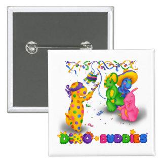 Dino-Buddies™ Button – Pinata Scene