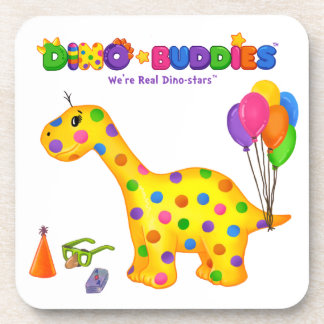 Dino-Buddies™ Coasters - Rollo™ w/Balloons