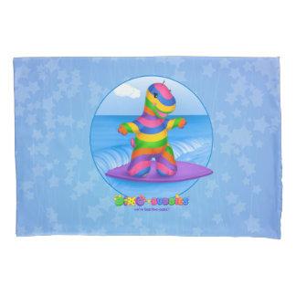 Dino-Buddies™ Pillow Case–Bo Surfing (Blue) Pillowcase