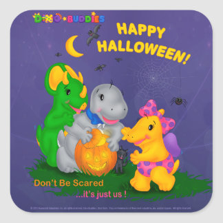 Dino-Buddies™ Stickers - Halloween Scene