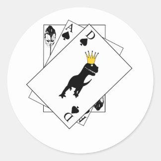 Dino Cards Round Sticker