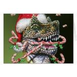 Dino Christmas Greeting Card