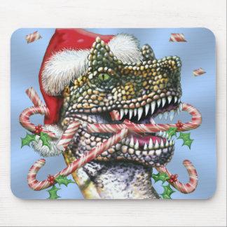 Dino Christmas Mouse Pad