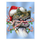 Dino Christmas Postcard