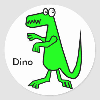Dino Classic Round Sticker