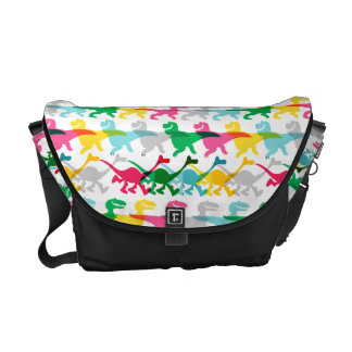 Dino Color Pattern Courier Bag