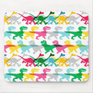 Dino Color Pattern Mouse Mat