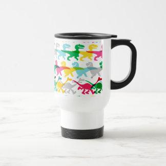 Dino Color Pattern Travel Mug