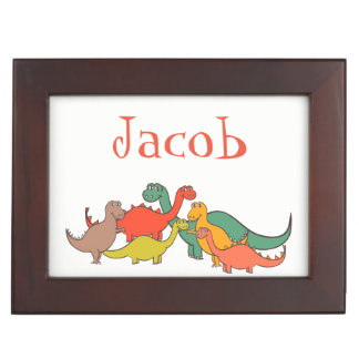 Dino Dinosaur Colorful Lizard T-rex Nursery Decor Keepsake Box