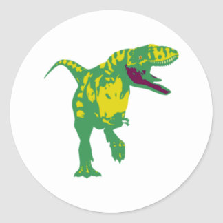 Dino dinosaur dinosaur dinosaur T Rex Round Sticker