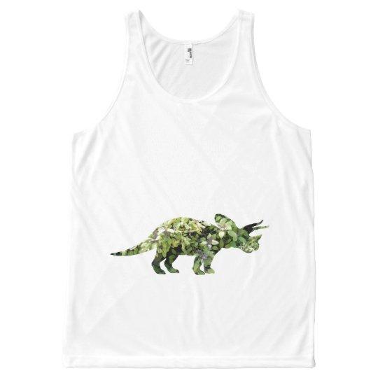 Dino Dinosaur Plants Collage Photo Unisex Vest All-Over