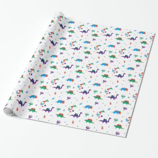 Dino Dreidels Wrapping Paper
