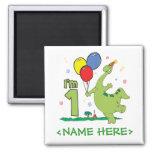 Dino First Birthday Magnets