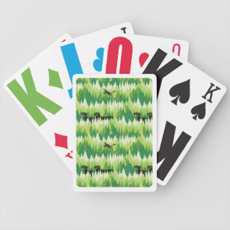 Dino Forest Pattern Bicycle Playing Cards