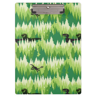 Dino Forest Pattern Clipboard
