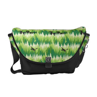 Dino Forest Pattern Courier Bags
