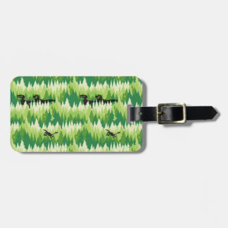 Dino Forest Pattern Luggage Tag