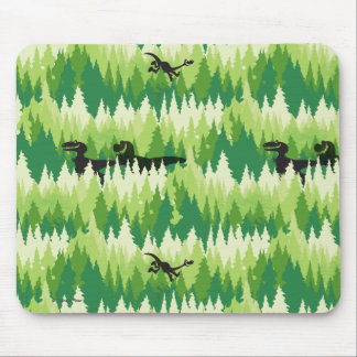 Dino Forest Pattern Mouse Mat