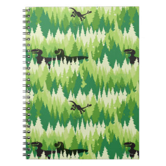 Dino Forest Pattern Notebooks