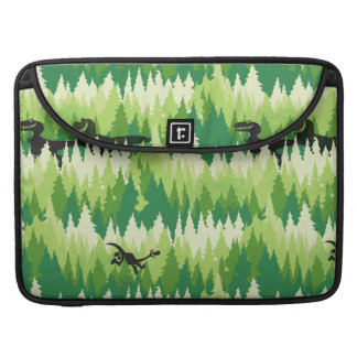 Dino Forest Pattern Sleeve For MacBooks