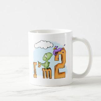 Dino Fun 2nd Birthday Basic White Mug