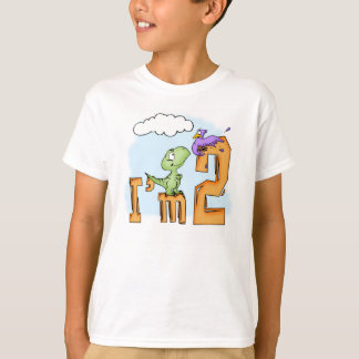 Dino Fun 2nd Birthday T-Shirt