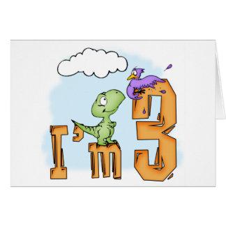 Dino Fun 3rd Birthday Invitation Greeting Cards