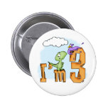 Dino Fun 3rd Birthday Pinback Buttons