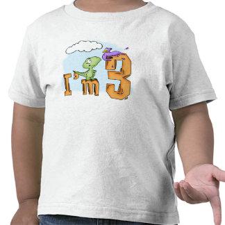 Dino Fun 3rd Birthday Tshirts