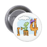Dino Fun 4th Birthday Pins