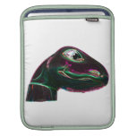 Dino Head Abstract Neon Sleeves For iPads