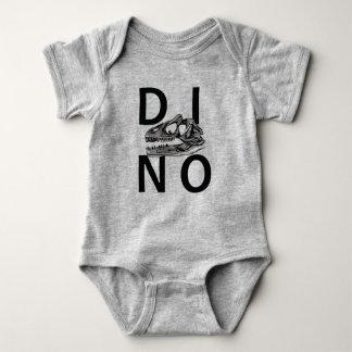 DINO - Heather Grey Baby Jersey Bodysuit