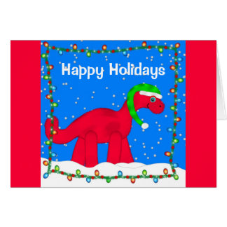 Dino Holiday Greeting Card