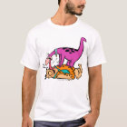 Dino Licking Fred Flintstone T-Shirt