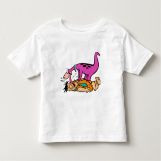 Dino Licking Fred Flintstone Toddler T-Shirt