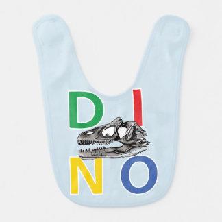 DINO - Light Blue Baby Bib