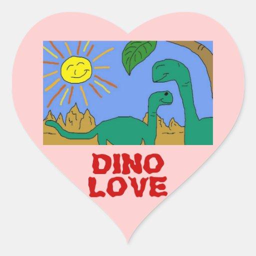 DINO LOVE - I LOVE DINOSAURS Heart Stickers